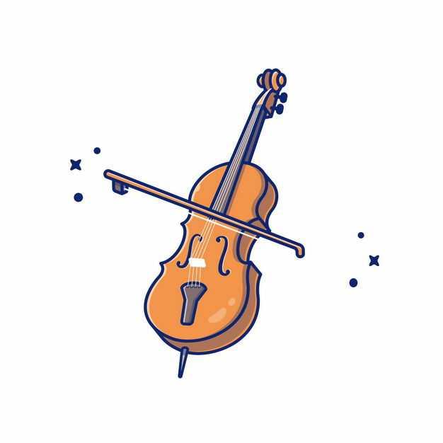 MBE风格大提琴和琴弓音乐乐器1841030EPS图片免抠素材