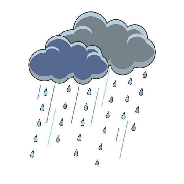卡通乌云和暴雨8502633png图片免抠素材