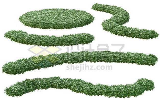 各种形状的绿色花圃公园观赏植物景观植物8576513图片免抠素材