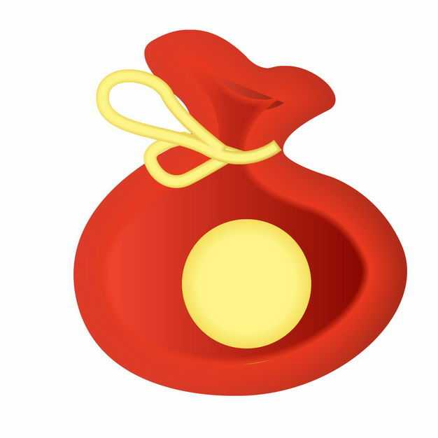 中国风卡通新年春节福袋钱袋子装饰图案6320047矢量图片免抠素材