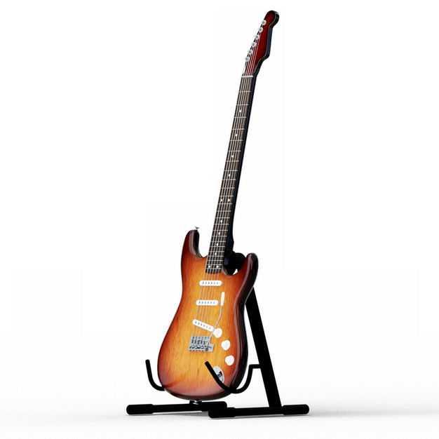 放在架子上的电吉他音乐乐器侧视图5740430PSD图片素材