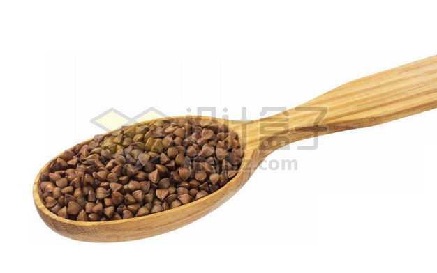 木头勺子里的荞麦米五谷杂粮粗粮美味美食9762129PSD图片免抠素材