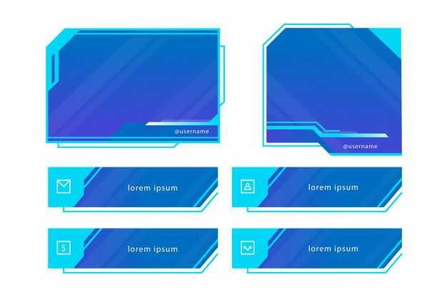各种蓝色高科技科幻风格信息框文本框7648469png图片免抠素材