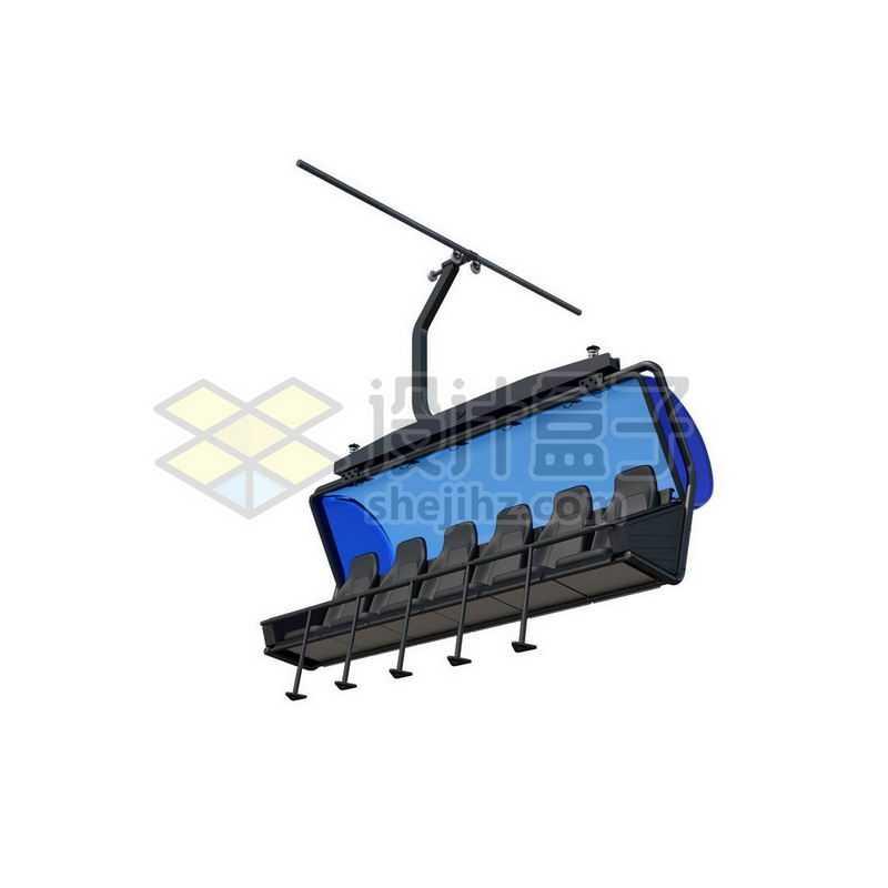 开放式滑雪场缆车8379024图片免抠素材