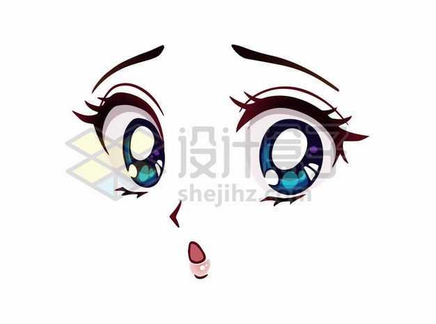 吃惊的可爱大眼睛卡通美女动漫脸漫画风格二次元表情包5120830png图片免抠素材