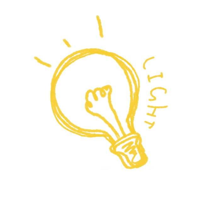 手绘涂鸦风格线条电灯泡921651PSD图片免抠素材