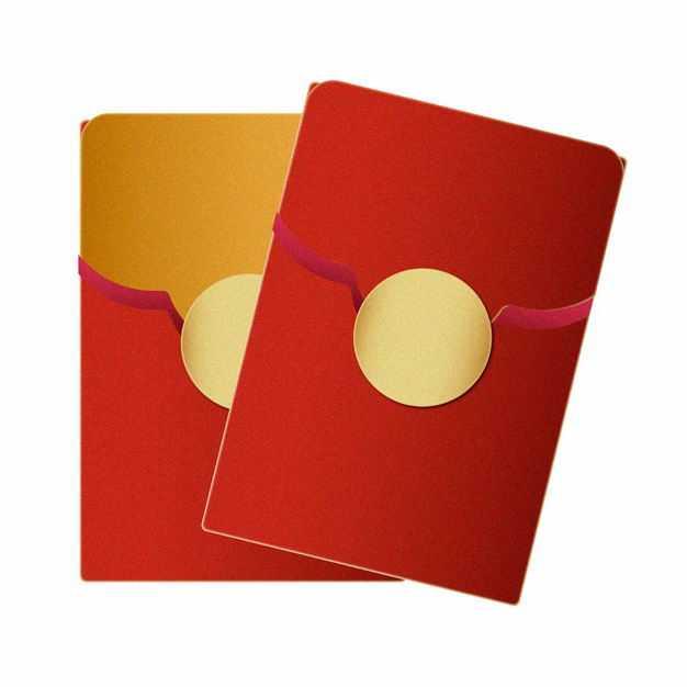 中国风两个新年春节红包图案1822448矢量图片免抠素材