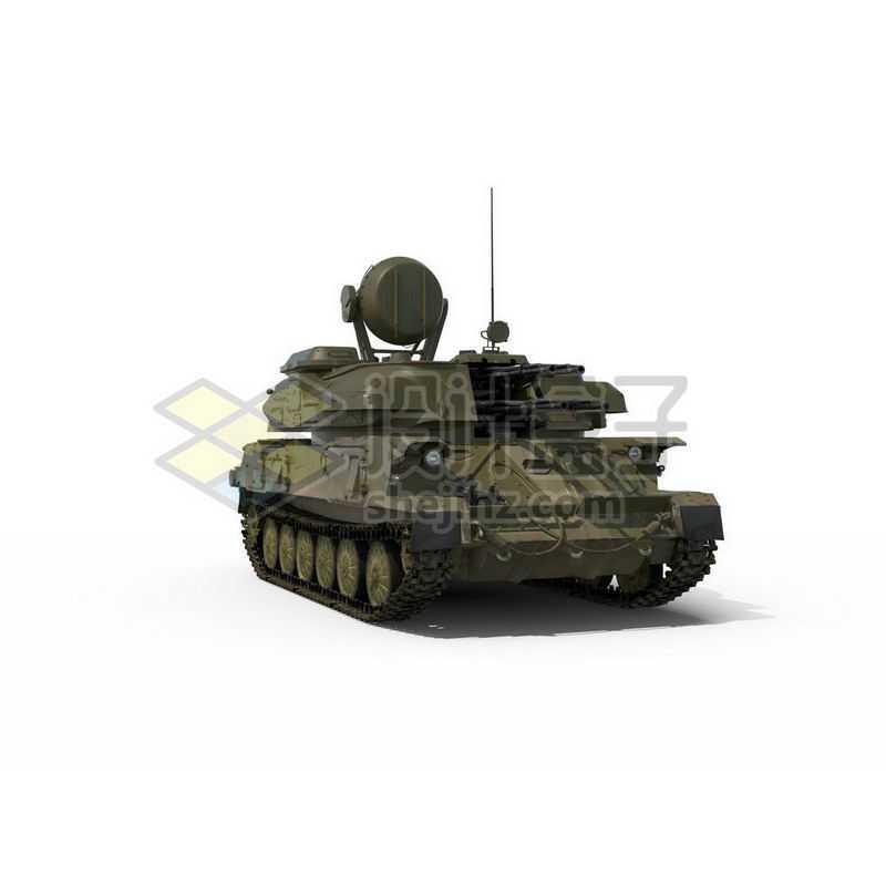 3D立体高清履带式防空炮高射炮武器战车模型7577067图片免抠素材