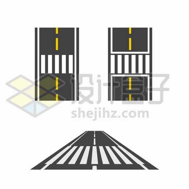 各种公路斑马线人行横道图案2285940png图片免抠素材