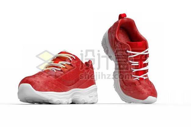 3D立体风格红色的运动鞋跑步鞋3778966PSD图片免抠素材