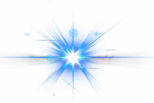 蓝色闪光星光光芒光晕效果317650png免抠图片素材