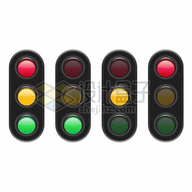 四款红绿灯交通灯7315042png图片免抠素材