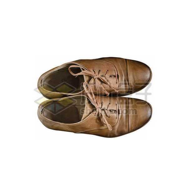 一双复古风格的牛皮鞋真皮男鞋3578383图片免抠素材