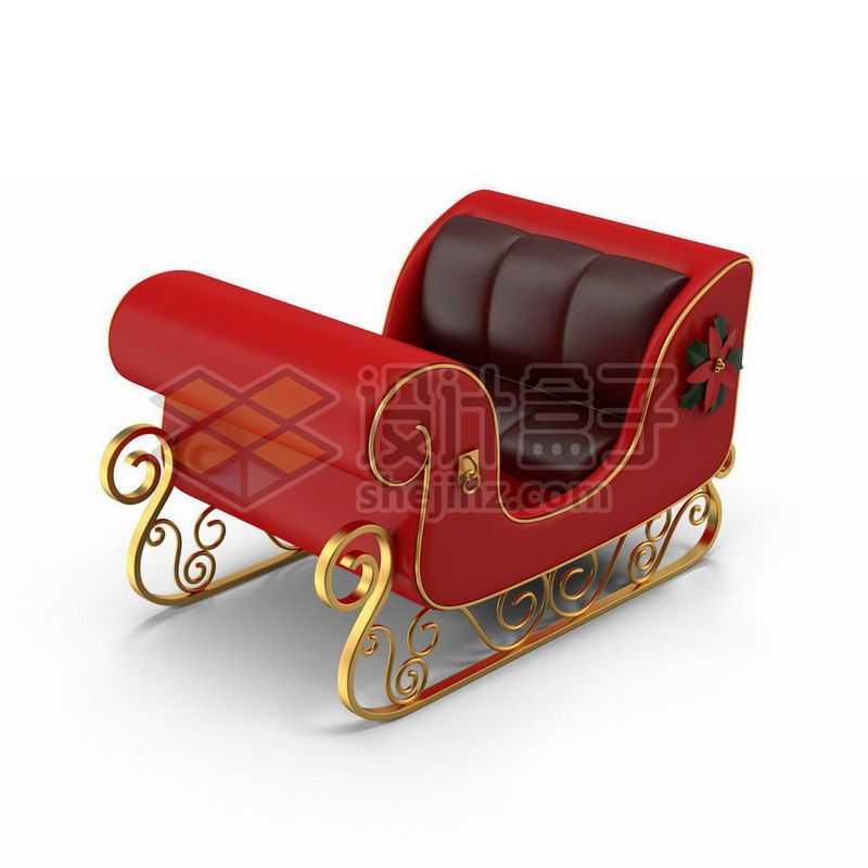 红色的圣诞节雪橇车7644726图片免抠素材