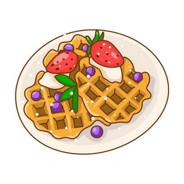 卡通华夫饼松饼美味早餐3094966png图片免抠素材