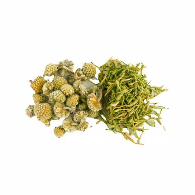一小堆洋甘菊胎菊苦丁茶等养生花茶107824png图片免抠素材