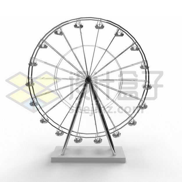 金属色的摩天轮模型侧面图6160315PSD图片免抠素材