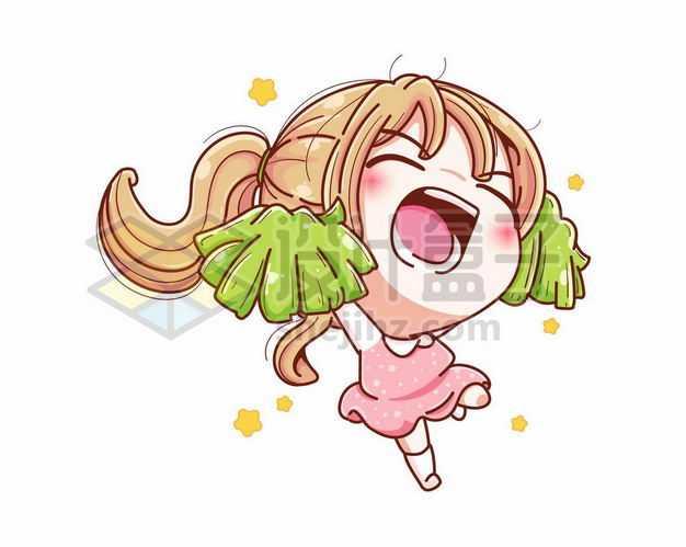 超可爱啦啦队跳舞的卡通小女孩4436036png图片免抠素材