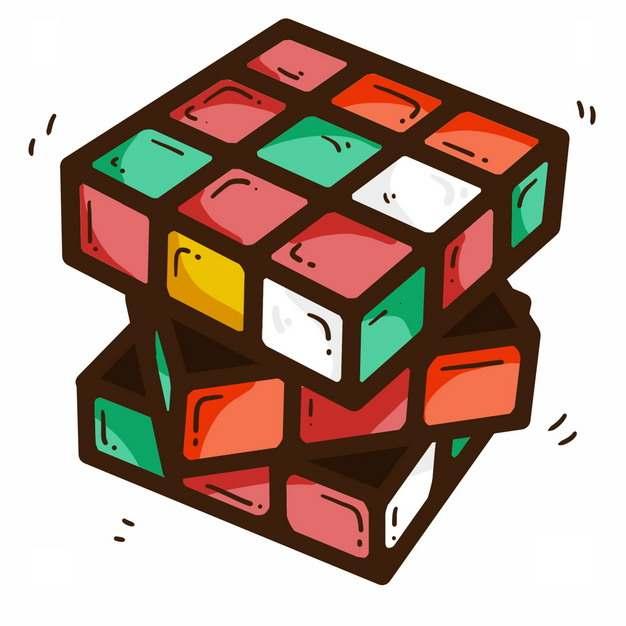 旋转中的卡通三级魔方玩具4678388png图片免抠素材