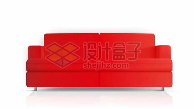 红色的两人位沙发正面图5683280png图片免抠素材