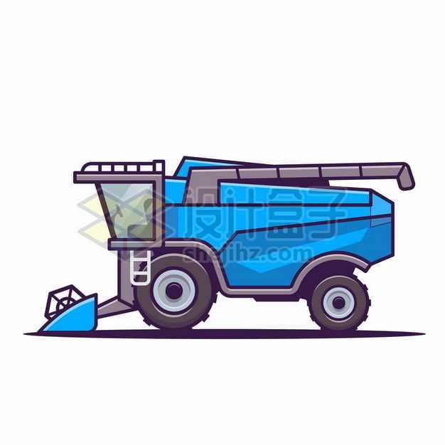 MBE风格蓝色卡通农用联合收割机7203504png图片免抠素材
