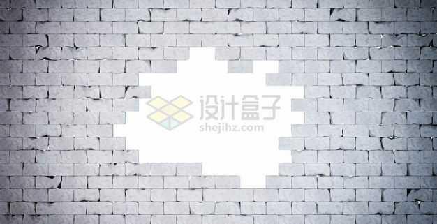 打破的灰色砖墙5587944图片免抠素材