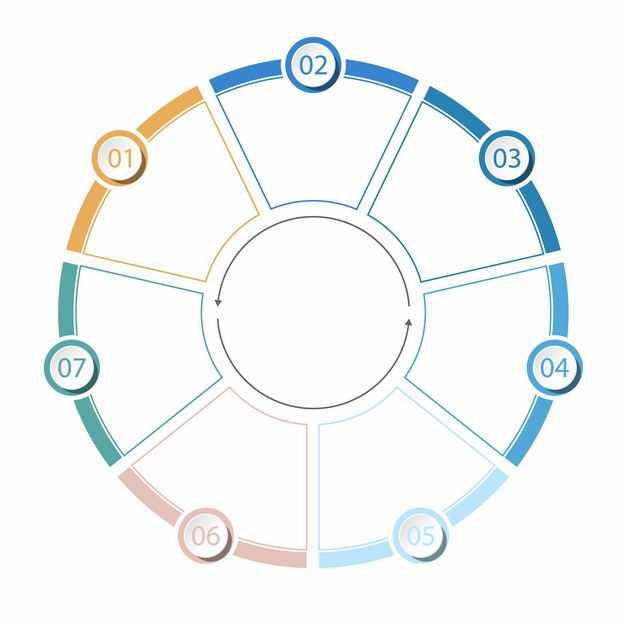 六边形环形线条PPT信息图表3037517EPS图片免抠素材