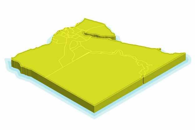亮绿色3D立体埃及地图2923102png图片免抠素材