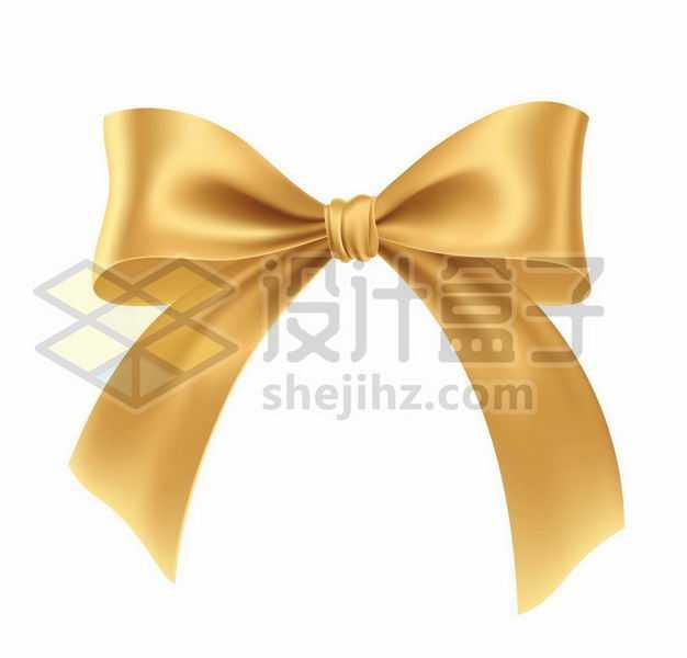 金色的蝴蝶结装饰7330907png图片免抠素材