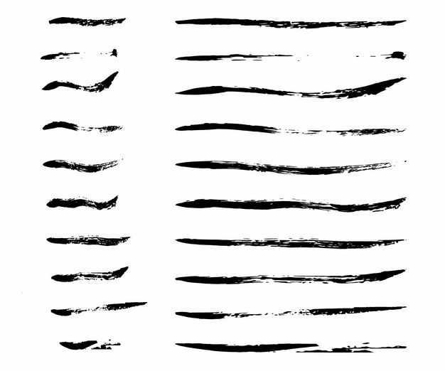 各种毛笔涂鸦风格线条9184095png图片免抠素材