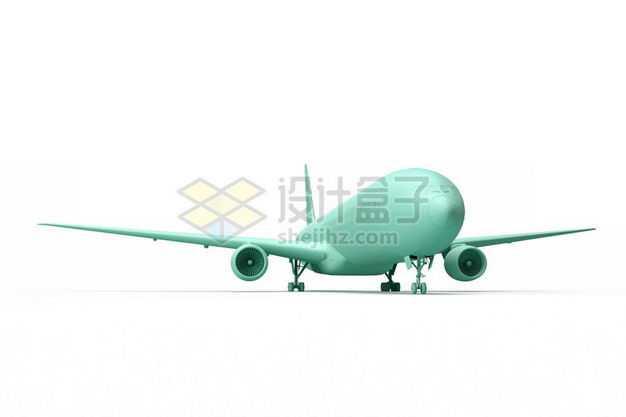 3D立体绿色大型客机飞机模型2590155图片免抠素材