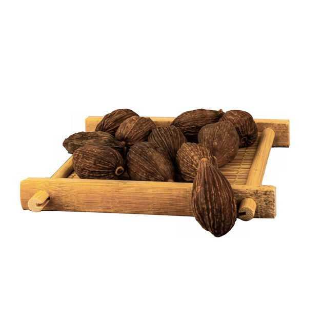 木盘子中装着的草果香调味品香料4514165png图片免抠素材