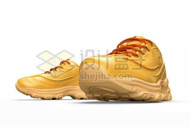 3D立体风格黄色的运动鞋跑步鞋9473148PSD图片免抠素材