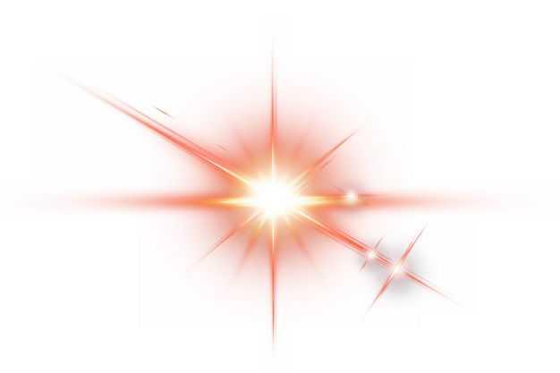 红色闪光星光光芒光晕效果184817png免抠图片素材