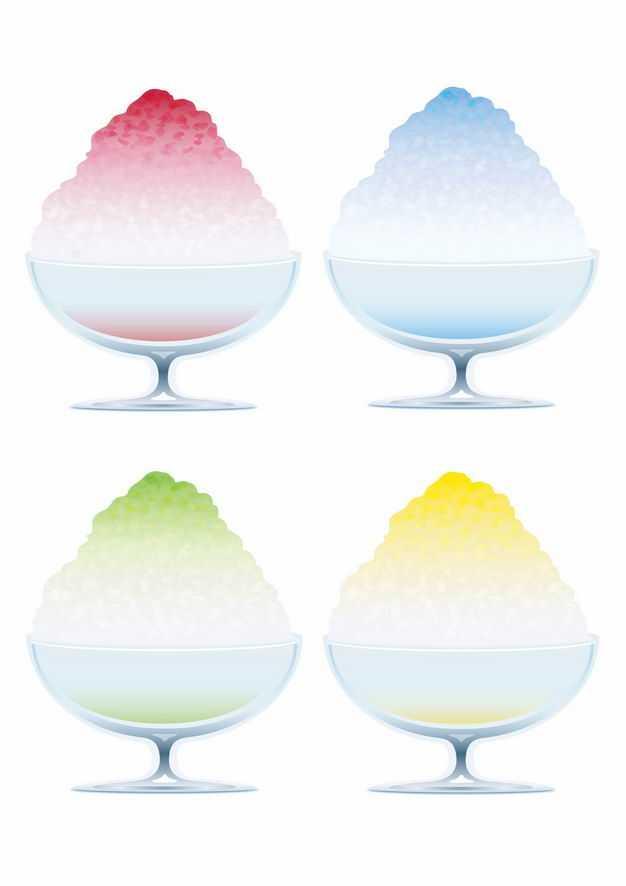 四款彩色美味沙冰冷饮5998504EPS图片免抠素材