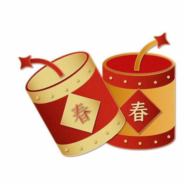 卡通风格春节新年过年鞭炮装饰图案1193671矢量图片免抠素材