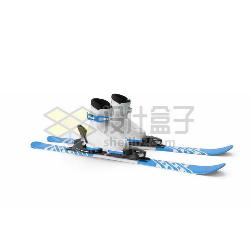 3D立体滑雪板雪橇板1434844图片免抠素材