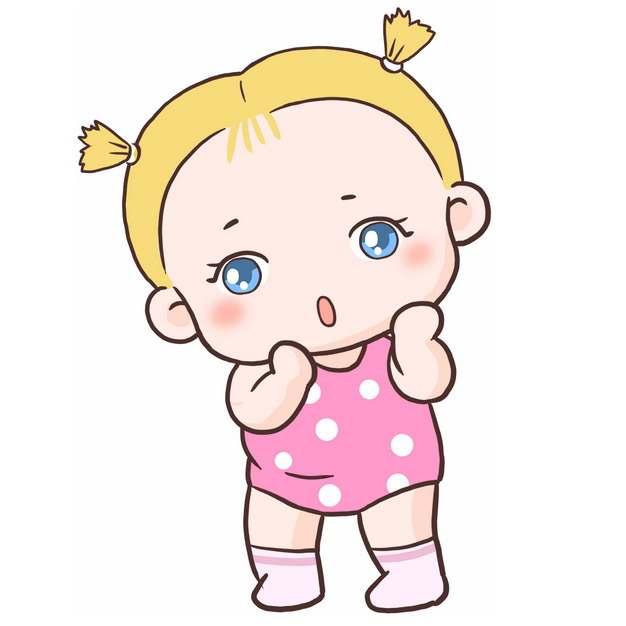 站起来的卡通女娃娃小宝宝5003511png图片免抠素材