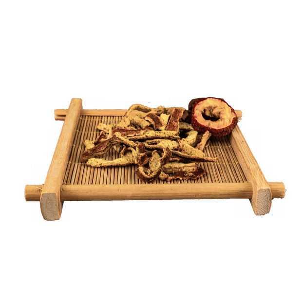 木盘子中装着的山楂干和陈皮香调味品香料3517412png图片免抠素材