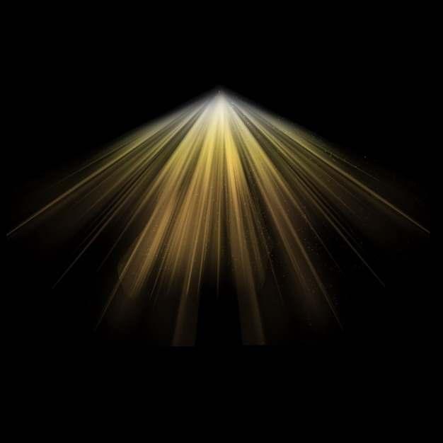 放射线的黄色光芒光线阳光684076PSD图片免抠素材