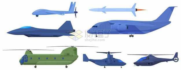彩虹无人机导弹隐身战斗机运20运输机支奴干运输直升机6589252png图片免抠素材