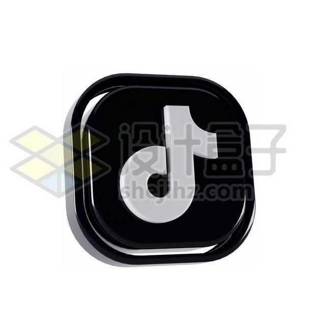 3D立体风格抖音TikTok标志logo9108519图片免抠素材