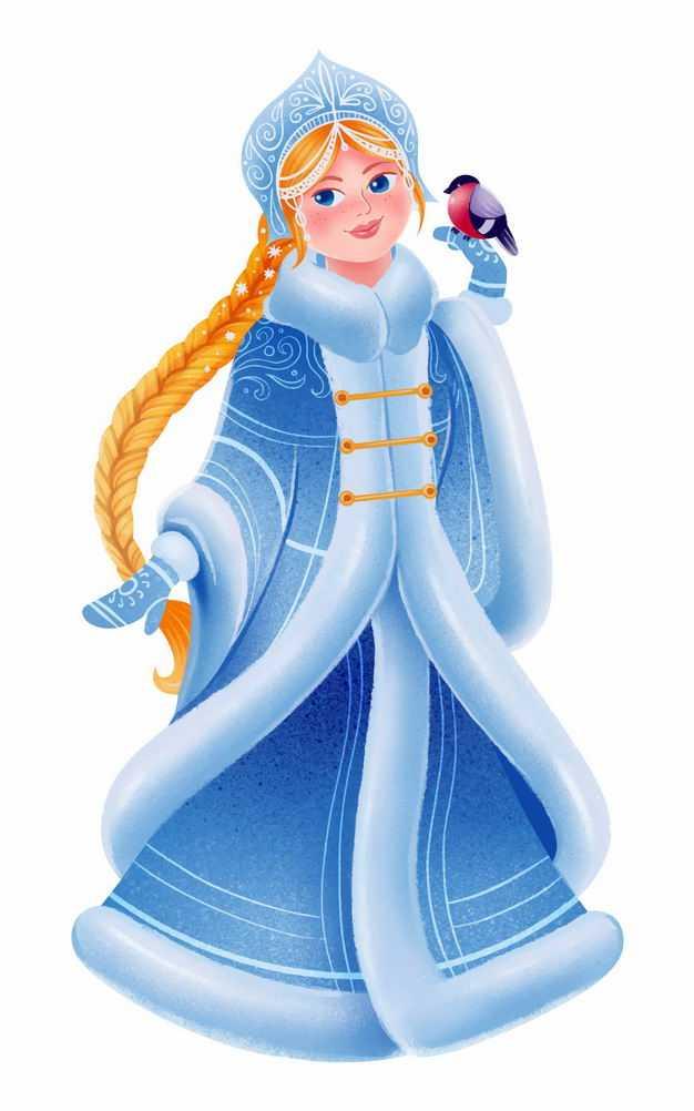 迪士尼蓝色卡通冰雪公主7439303png图片免抠素材
