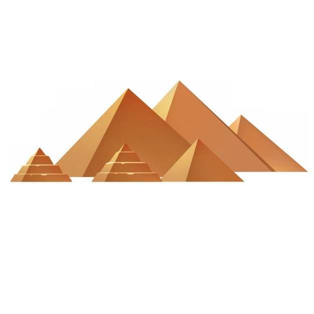 埃及金字塔建筑群7241759png图片免抠素材