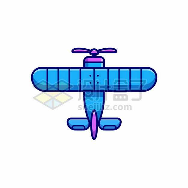 MBE风格蓝色卡通螺旋桨飞机4313259png图片免抠素材