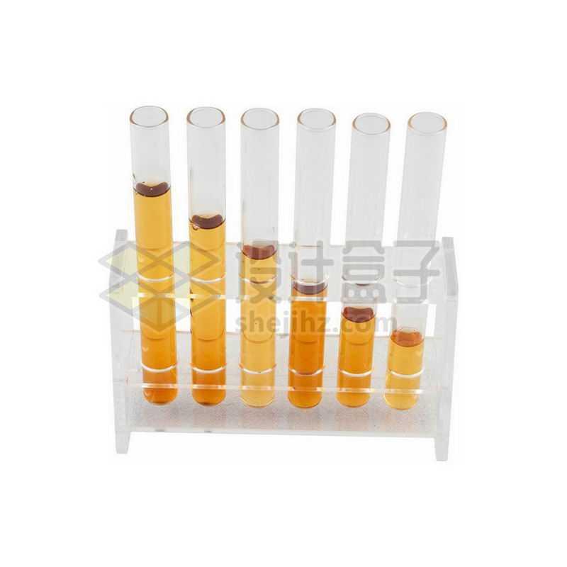 俯视视角的试管架上的玻璃试管等化学实验仪器3284578png图片免抠素材