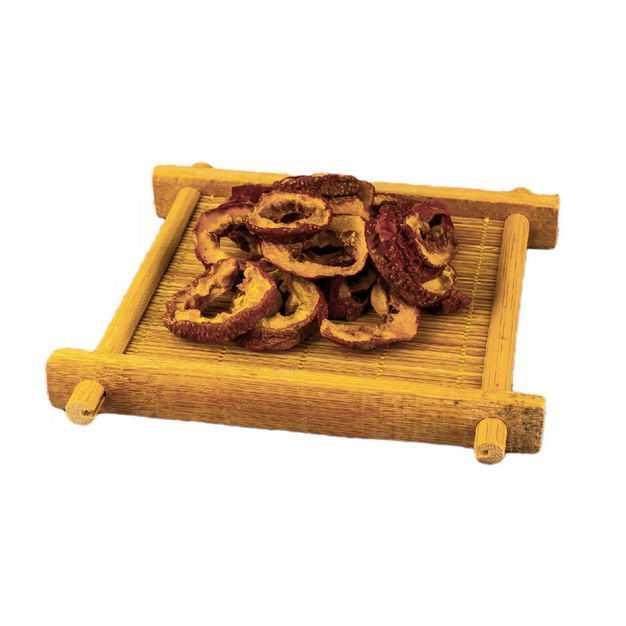 木盘子中装着的山楂干香调味品香料2210652png图片免抠素材