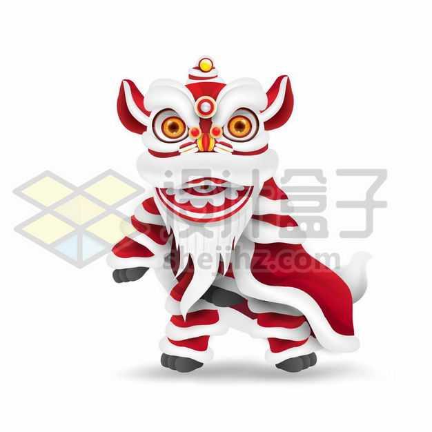 春节新年中国传统文化舞狮子6392343png图片免抠素材