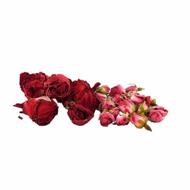 一小堆玫瑰花茶牡丹花茶等养生花茶594024png图片免抠素材