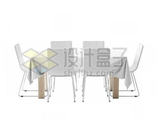 铺上白色桌布的餐桌和餐椅餐厅装修家具9334305图片免抠素材